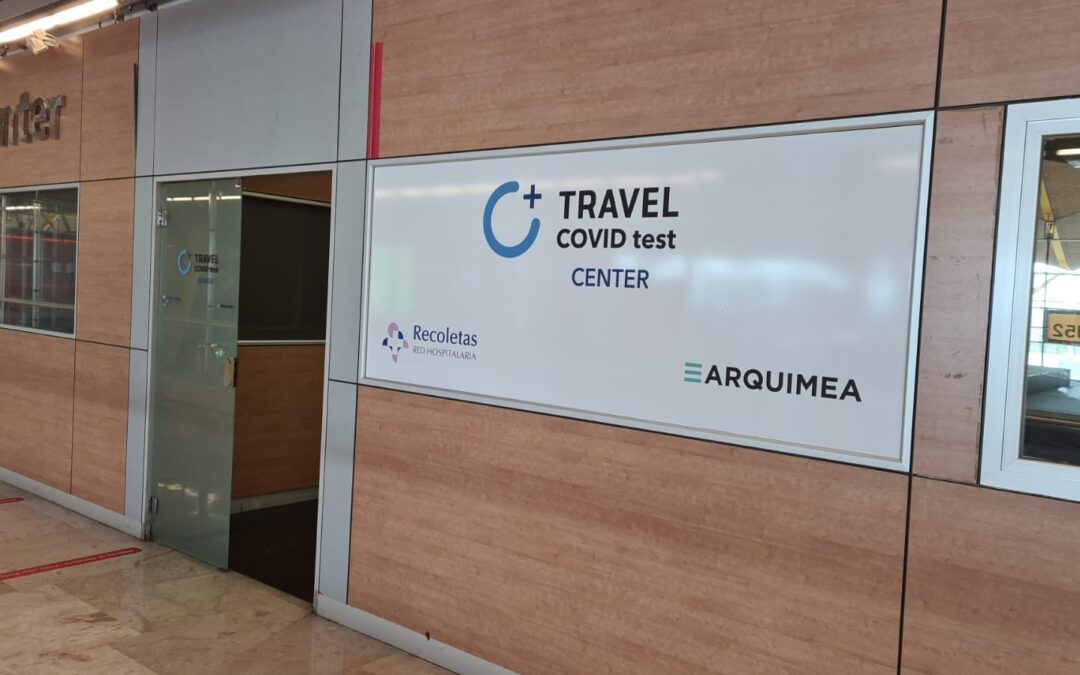 Travel covid test center Madrid Barajas Airport