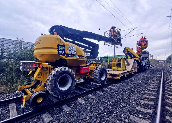 Assembly and maintenance of railway electrification systems.