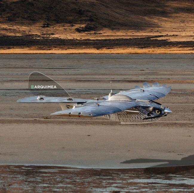 Unmanned Forward Observer Bird camouflage UAV shepherd-mil advanced