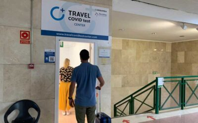 A new Travel COVID Test centre for COVID-19 tests is set up at Jerez Airport
